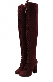 Замшевые ботфорты на шнуровке Le Silla