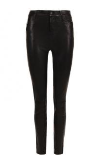 Однотонные кожаные брюки-скинни J Brand