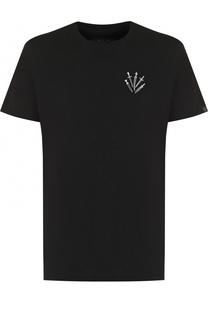 Хлопковая футболка с вышивкой Rag&Bone Rag&Bone