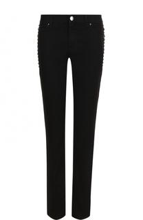 Однотонные джинсы прямого кроя с шипами Valentino