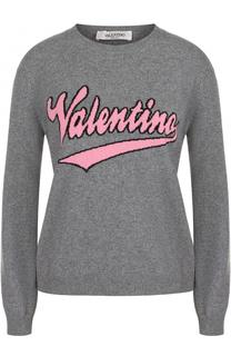 Пуловер из смеси шерсти и кашемира с логотипом бренда Valentino