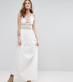 Платье макси на тонких бретельках Glamorous Tall - Белый