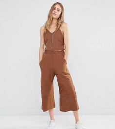 Комбинируемые укороченные брюки с широкими штанинами House Of Sunny - Коричневый