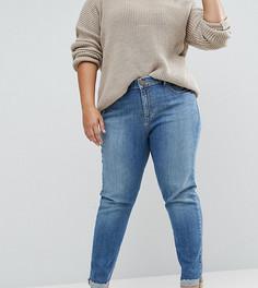 Выбеленные джинсы бойфренда с отворотами ASOS CURVE ASOS KIMMI - Синий