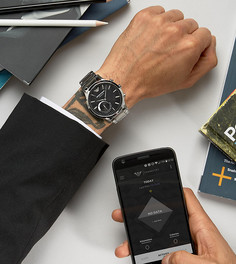 Смарт-часы с ремешком из нержавеющей стали Emporio Armani ART3000 Connected - Серебряный