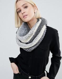 Вязаный шарф с эффектом омбре (кремовый / серый) Genie by Eugenia Kim Dakota - Серый