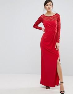 Платье макси с запахом и кружевными рукавами Coast Riva - Красный