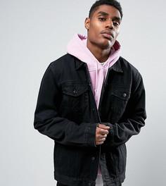 Черная джинсовая куртка в стиле oversize Reclaimed Vintage Inspired - Черный