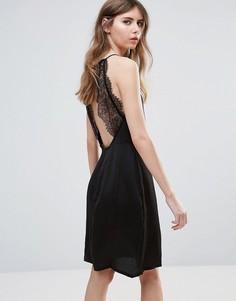 Платье с кружевом на спине Ichi - Черный