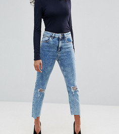 Рваные джинсы в винтажном стиле с завышенной талией ASOS PETITE FARLEIGH - Синий