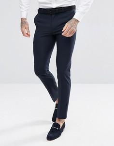 Темно-синие брюки под смокинг зауженного кроя Harry Brown - Темно-синий