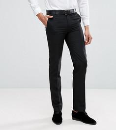 Черные однотонные брюки узкого кроя Harry Brown TALL - Черный