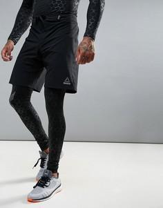 Спортивные шорты со светоотражающей вставкой Reebok Training BR4853 - Черный