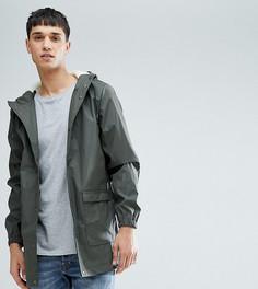 Водонепроницаемая куртка средней длины с капюшоном D-Struct TALL - Зеленый