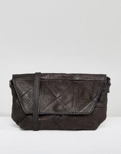 Кожаная сумка через плечо Ichi - Черный