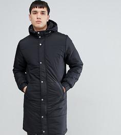 Длинное стеганое пальто Another Influence TALL - Черный