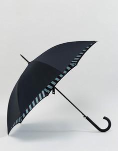 Зонт в полоску Fulton Bloomsbury 2 - Черный