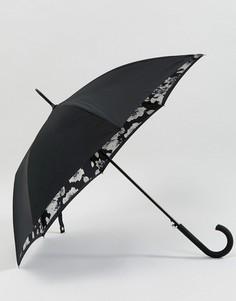 Зонт с цветочным принтом Fulton Bloomsbury 2 - Черный