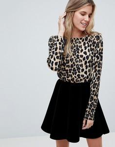 Блузка с леопардовым принтом b.Young - Мульти