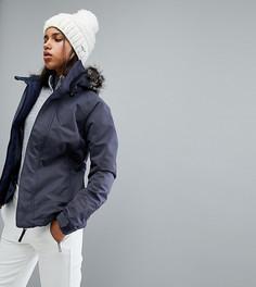 Горнолыжная куртка с искусственным мехом на капюшоне ONeill - Темно-синий O`Neill