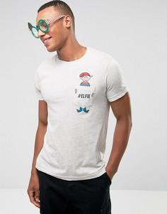 Футболка с принтом на кармане Brave Soul Christmas - Серый