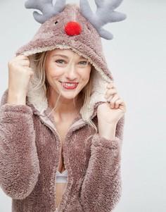 Новогодний комбинезон олень Loungeable - Коричневый
