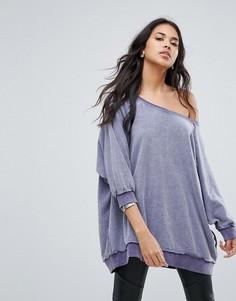 Длинный свитшот Free People My Pullover - Фиолетовый