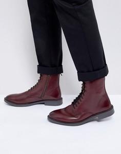 Туфли на шнуровке в стиле милитари Kg By Kurt Geiger - Красный