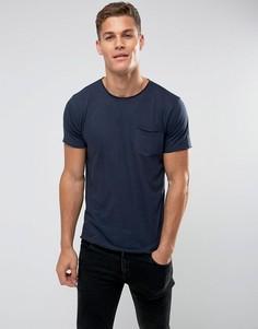 Базовая футболка с необработанными краями Brave Soul - Темно-синий