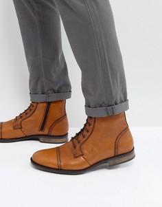 Светло-коричневые кожаные ботинки на шнуровке Dead Vintage - Рыжий