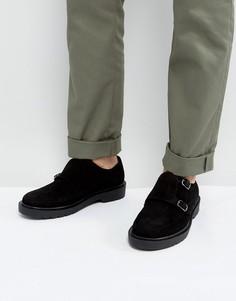 Черные замшевые монки Dead Vintage - Черный