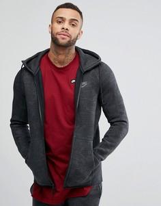Худи серого цвета с молнией Nike Tech 863814-038 - Серый