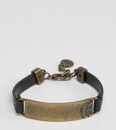 Черный кожаный браслет Diesel A-Selff - Черный