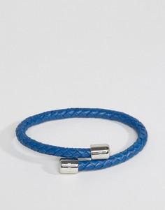 Черный кожаный браслет Ted Baker - Синий