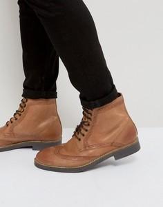 Светло-коричневые кожаные броги Frank Wright - Рыжий