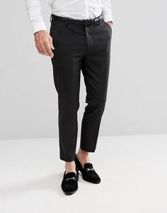 Темно-серые укороченные брюки скинни ASOS - Серый