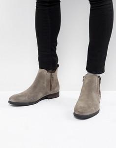 Серо-коричневые замшевые ботинки на молнии Call It Spring - Серый