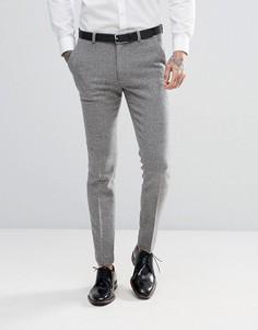 Серые супероблегающие брюки ASOS Wedding - Серый