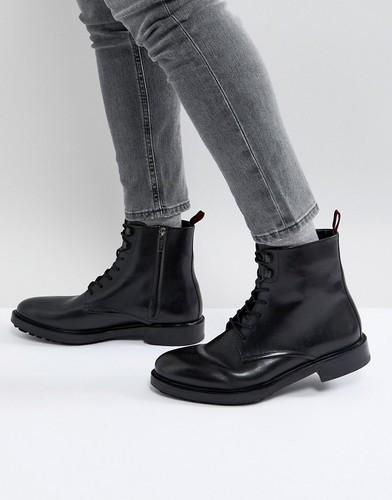 Черные ботинки из телячьей кожи с меховой подкладкой HUGO by Hugo Boss Defend - Черный