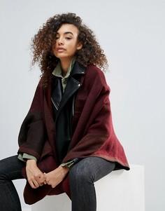 Двухцветный шарф-кейп Nali - Красный