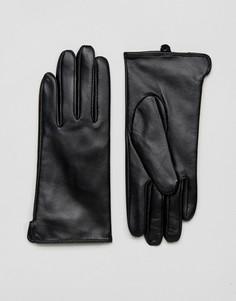 Перчатки из натуральной кожи Barneys - Черный Barneys Originals