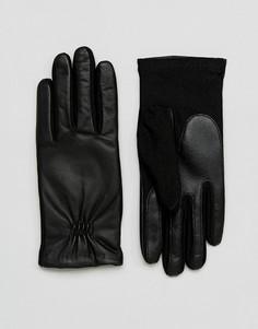 Кожаные перчатки Barneys - Черный Barneys Originals