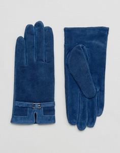 Перчатки из натуральной кожи Barneys - Темно-синий Barneys Originals