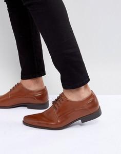 Светло-коричневые туфли дерби из искусственной кожи на шнуровке ASOS - Рыжий