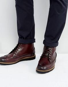 Бордовые ботинки броги Original Penguin - Красный