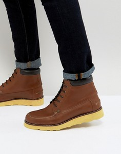 Светло-коричневые ботинки на шнуровке Original Penguin - Рыжий