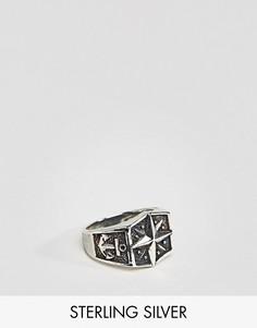Серебряное кольцо с узором в виде якоря ASOS - Мульти