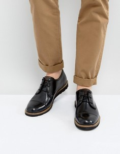 Черные дерби со вставкой на носке Original Penguin - Черный