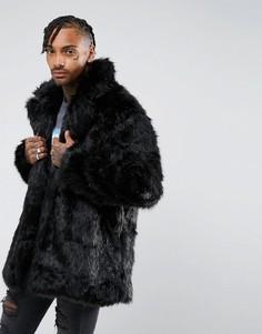 Куртка из искусственного меха The New County - Черный