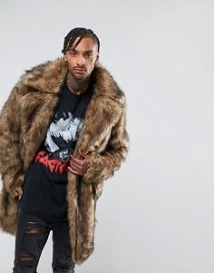 Оверсайз-куртка из искусственного меха The New County - Коричневый